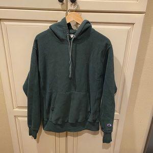 Champion reverse weave hoodie sweatshirt green m